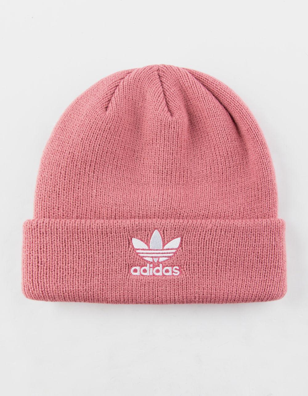 fbf24da9d34 ... Adidas - Originals Trefoil Pink Womens Beanie - Lyst. View fullscreen  adidas  Originals Trefoil II Knit ...