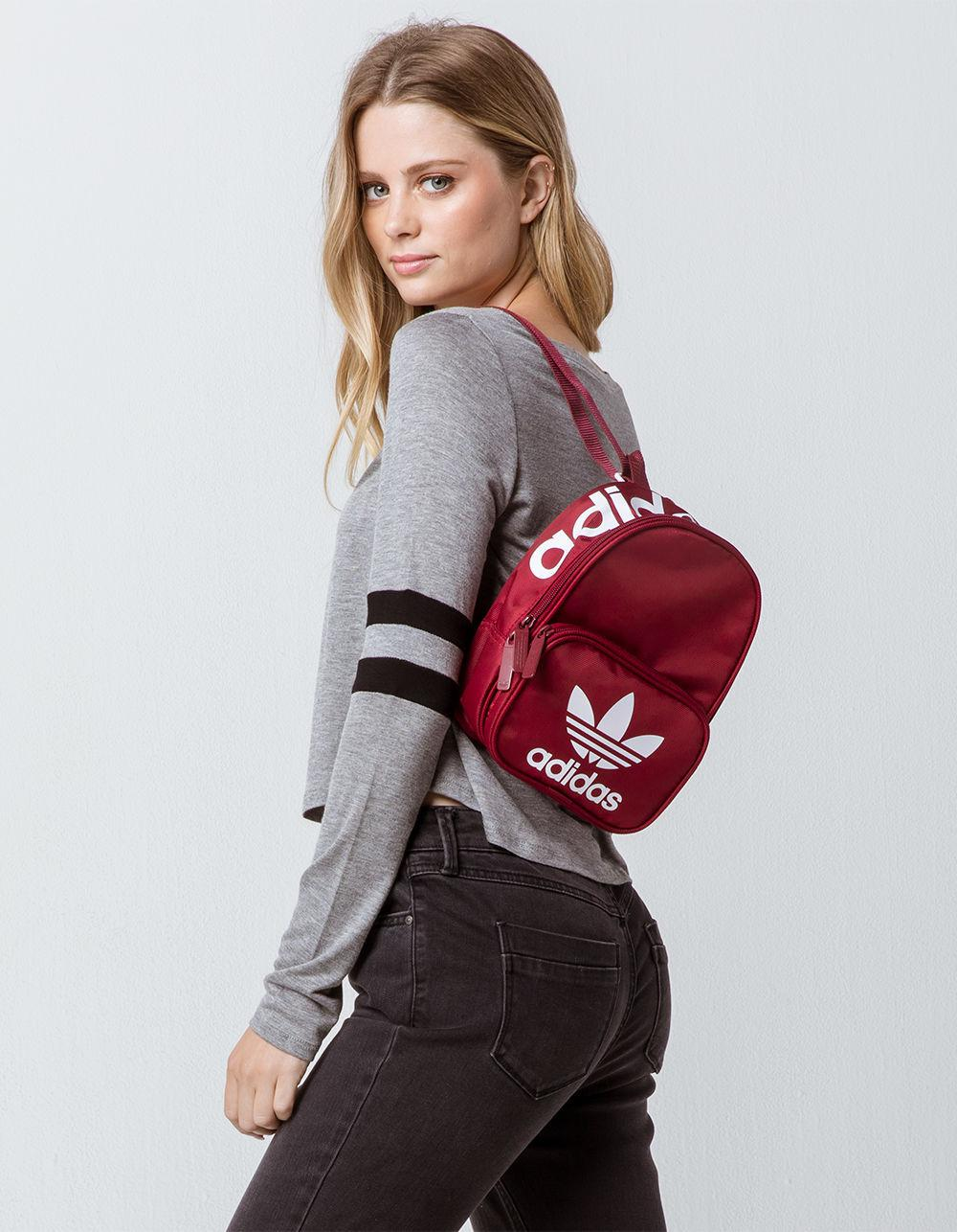 2ddefd97255c Lyst - adidas Originals Santiago Burgundy Mini Backpack in Red