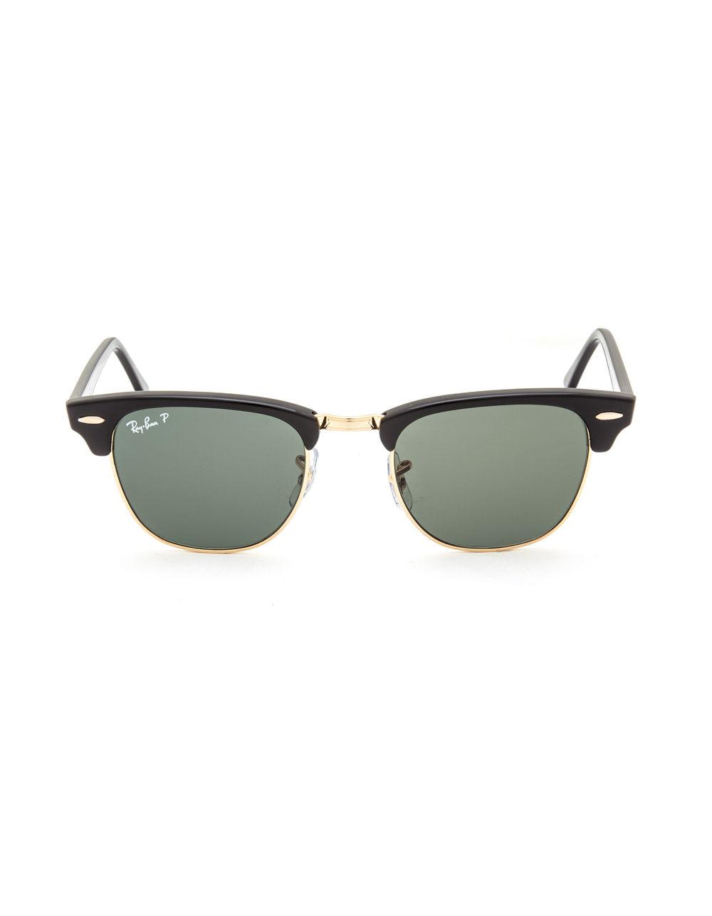 5dcdfb5c6c Lyst - Ray-Ban Clubmaster Classic Polarized Sunglasses in Black for Men