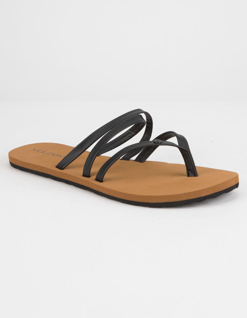92feeb68dd5b Lyst - Volcom Easy Breezy Womens Sandals in Black
