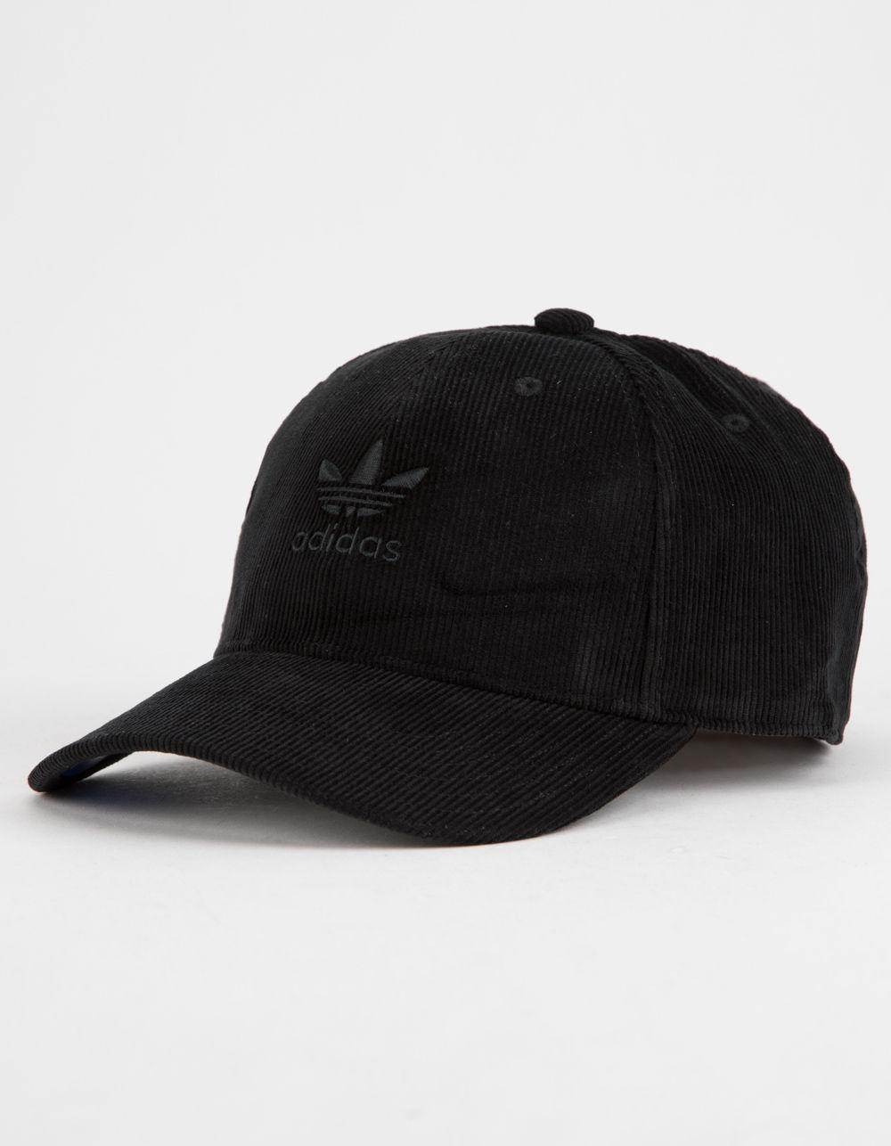 Lyst - adidas Originals Relaxed Corduroy Black Mens Dad Hat in Black ... be23f7c5952