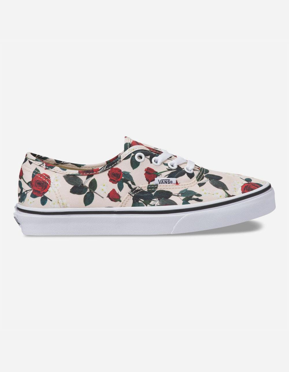 Authentic Roses Womens Shoes in White
