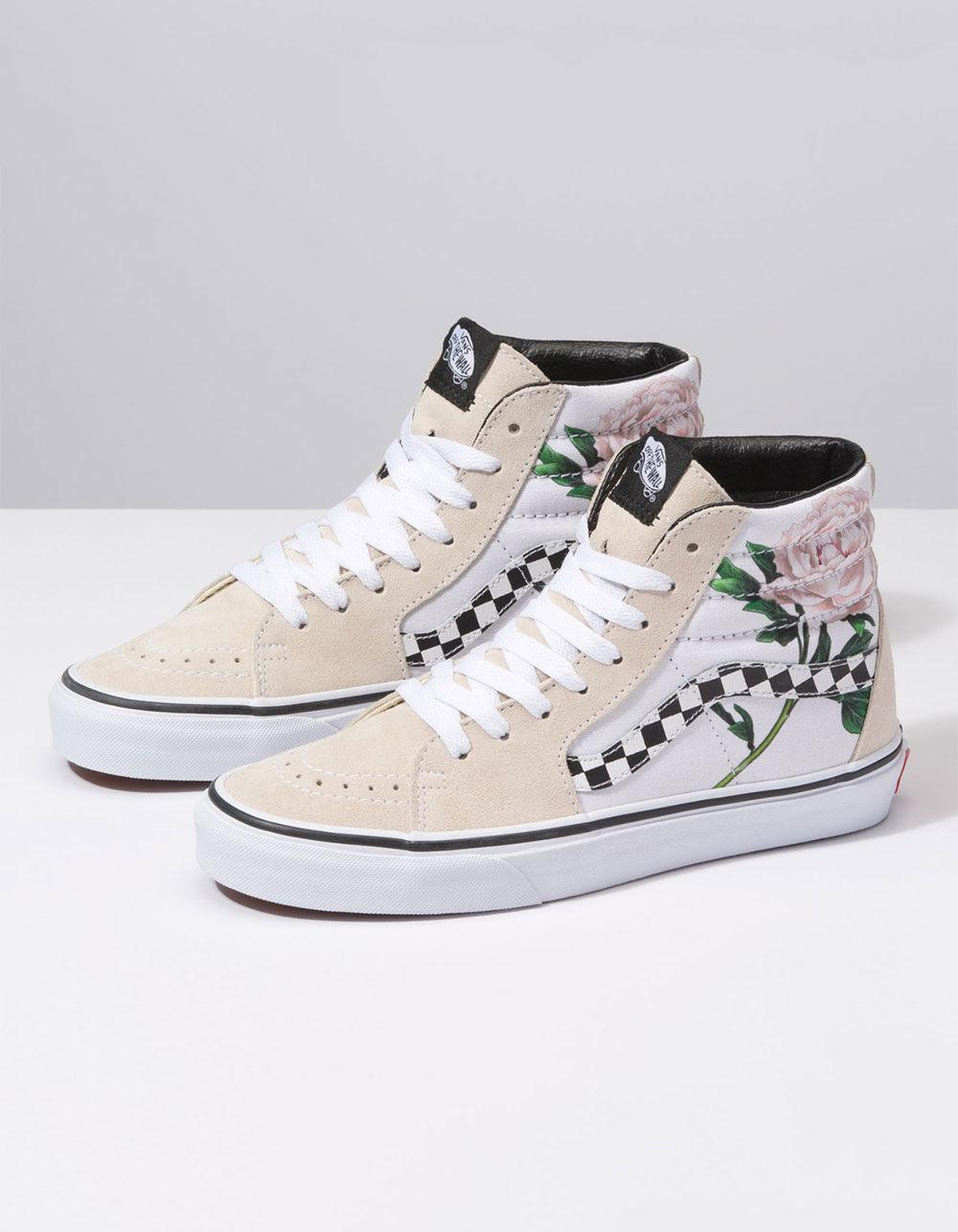 69db06e7daa7 Lyst - Vans Sk8-hi Checker Floral Womens Shoes