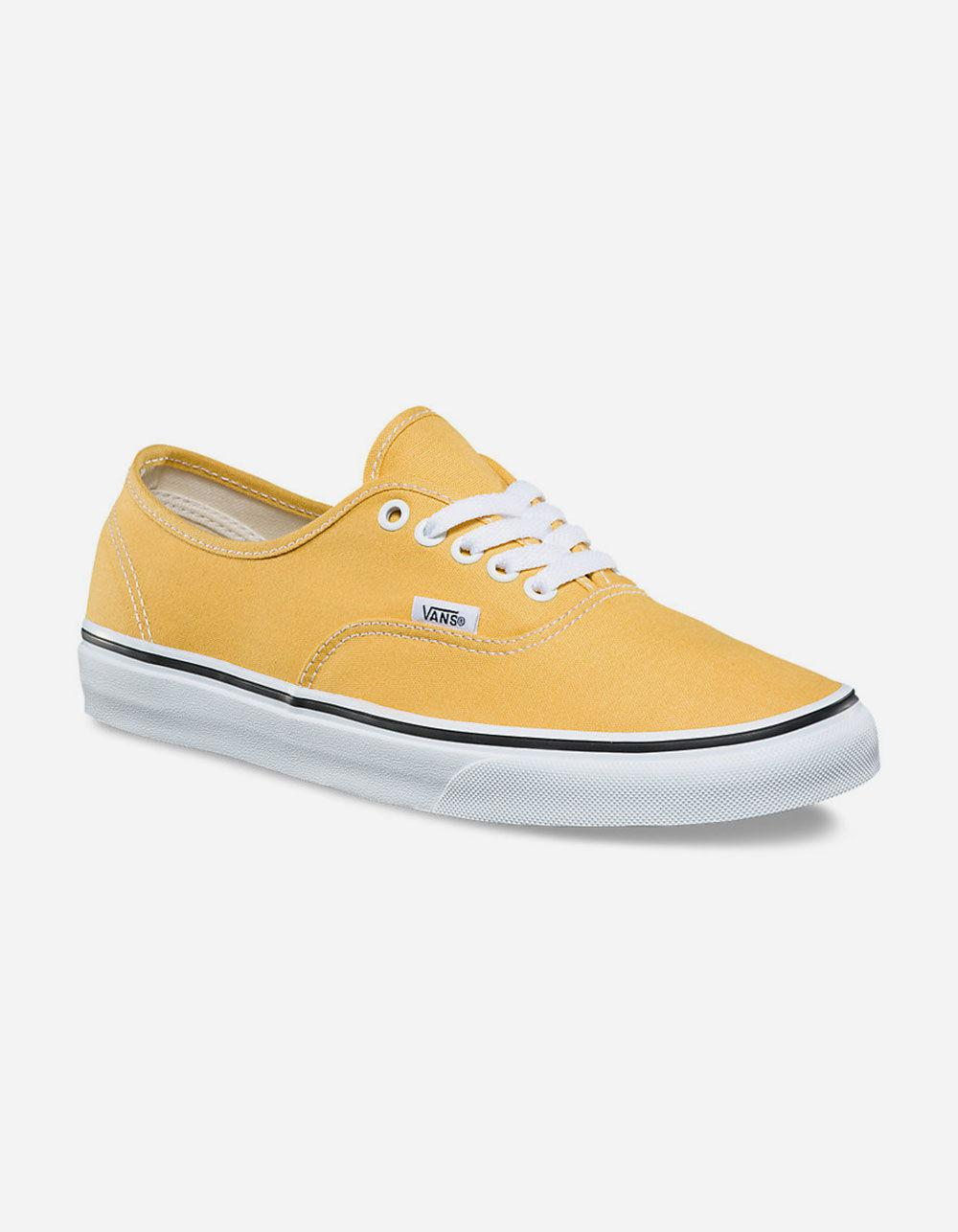 c6442751d4 Lyst - Vans Authentic Ochre   True White Womens Shoes in White