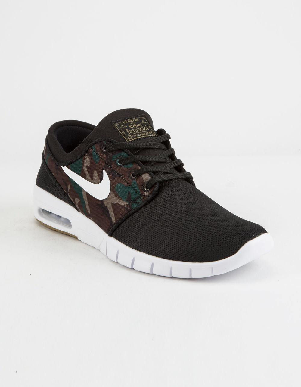 6c147058541d Lyst - Nike Stefan Janoski Max Black   White-medium Olive Shoes in Black  for Men