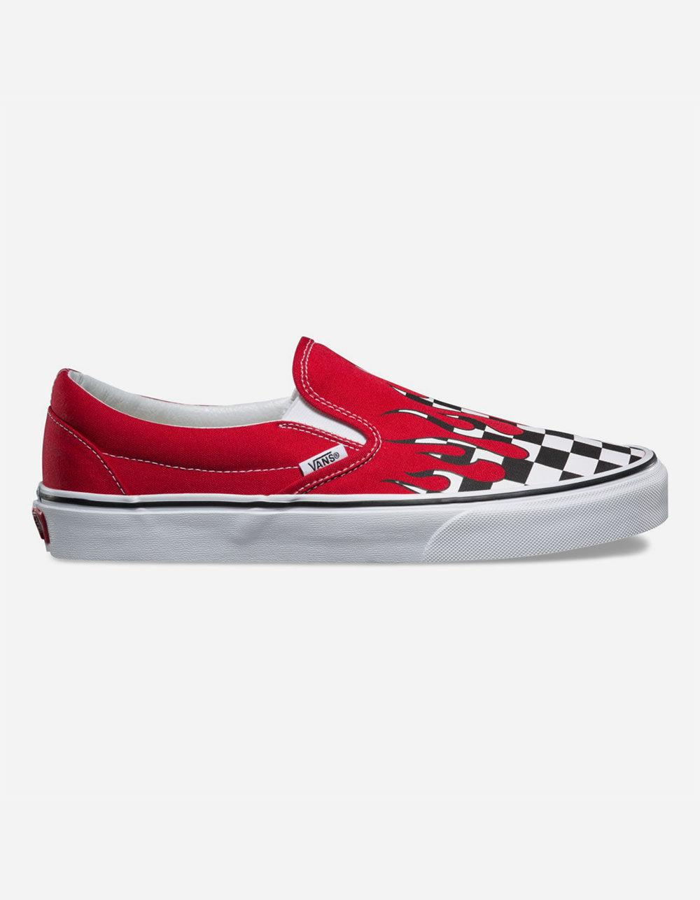 Lyst - Vans Classic Slip On Trainers in Red - Save 30% 917758bac