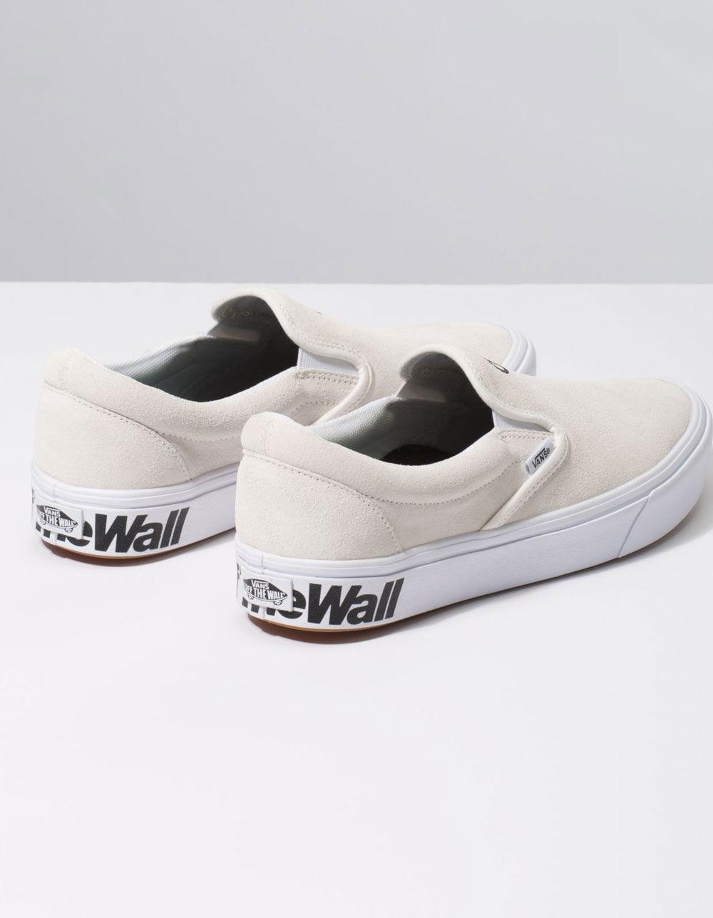 Comfycush Distort Slip-on Blanc & Black Shoes