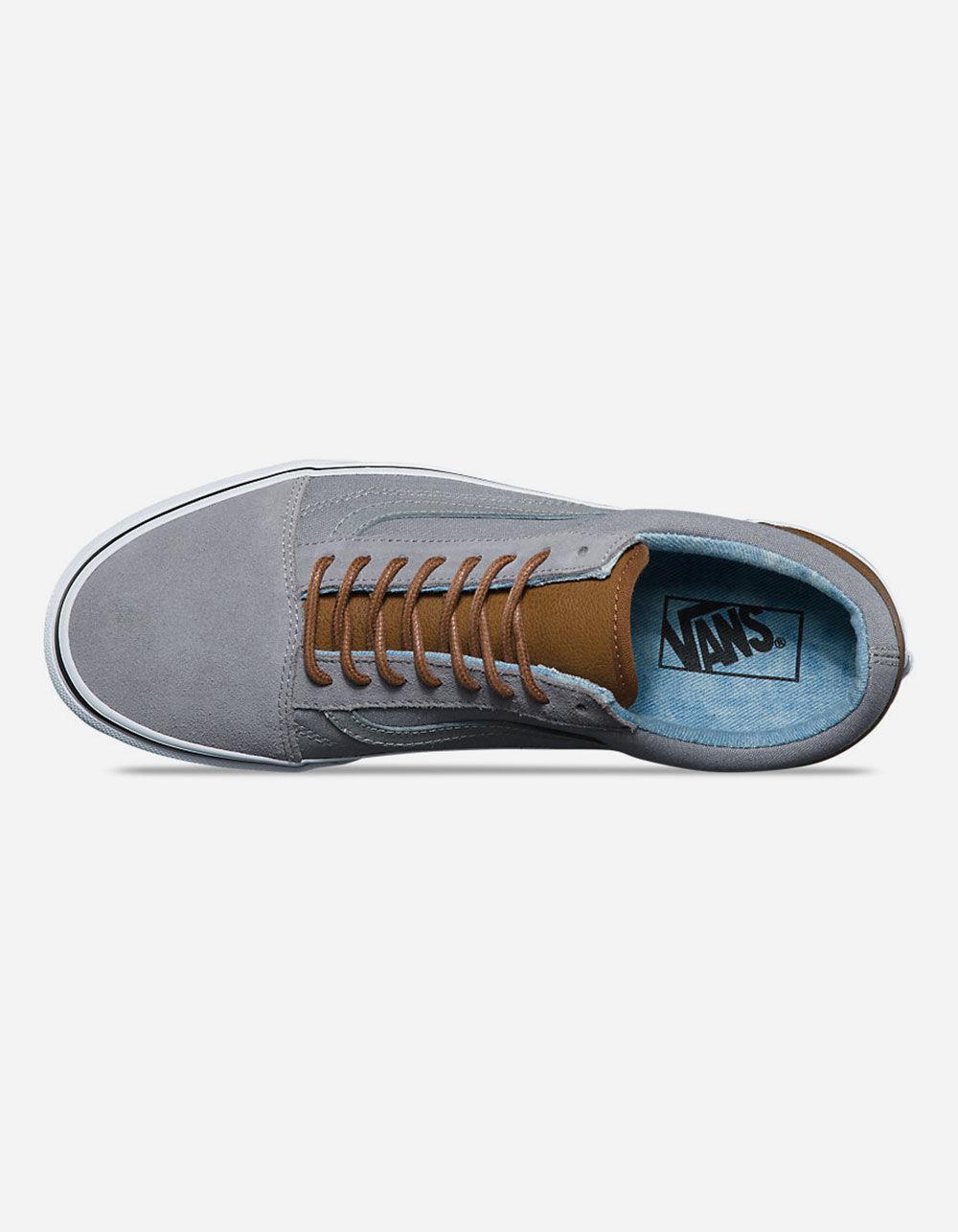 Lyst - Vans C l Old Skool Frost Grey   Acid Denim Mens Shoes in Gray ... 0f2de895c