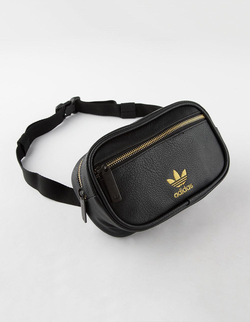 3cd356de8ca8 Lyst - adidas Originals Pebbled Faux Leather Fanny Pack in Black