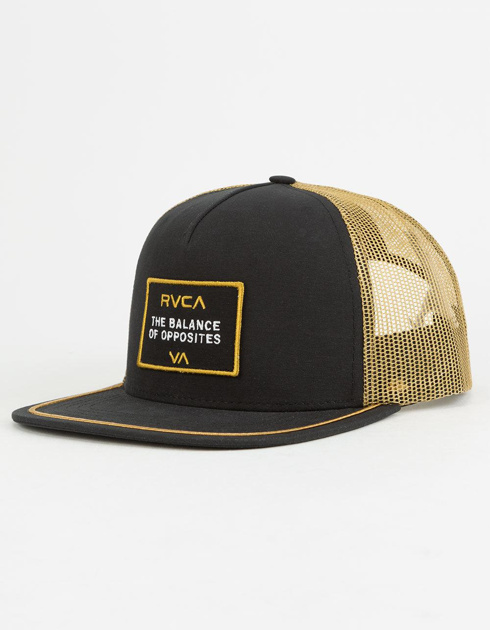 e7ebd11f0db43 RVCA Billboard Mens Trucker Hat in Black for Men - Lyst