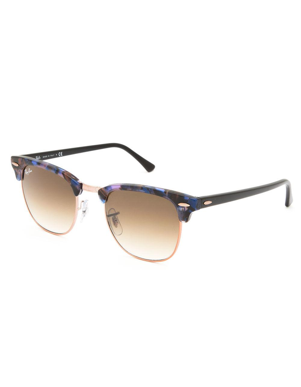 7a5c121a0b Lyst - Ray-Ban Clubmaster Fleck Spotted Brown   Blue Sunglasses in Brown