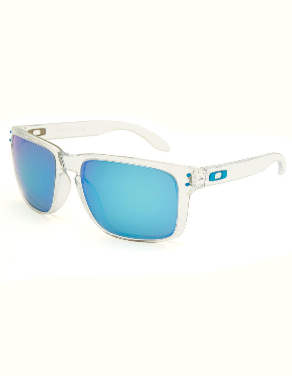 092706f8023 Lyst - Oakley Holbrook Xl Clear   Blue Sunglasses in Blue for Men