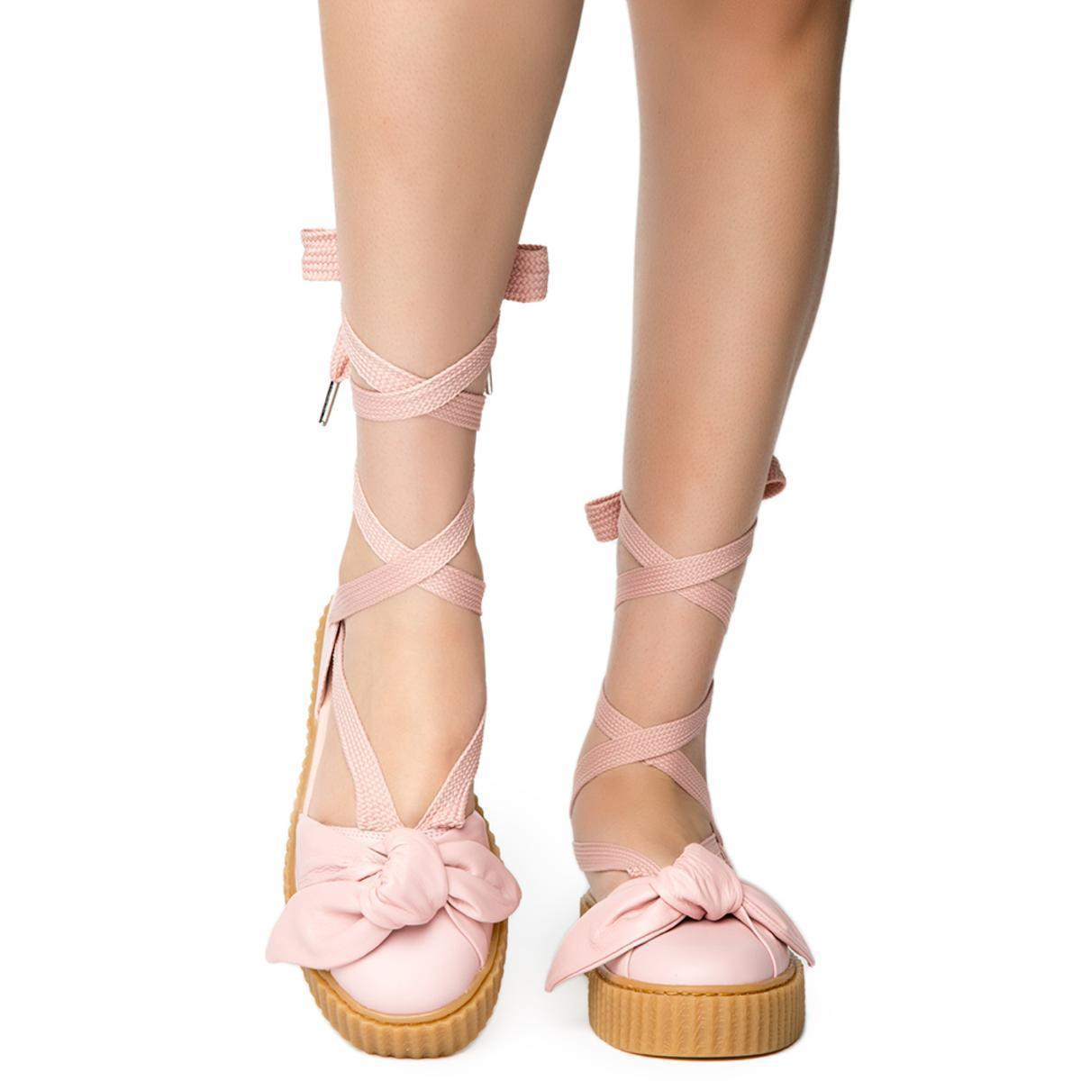 online retailer 256f8 29a25 Women's Pink Bow Creeper Sandal