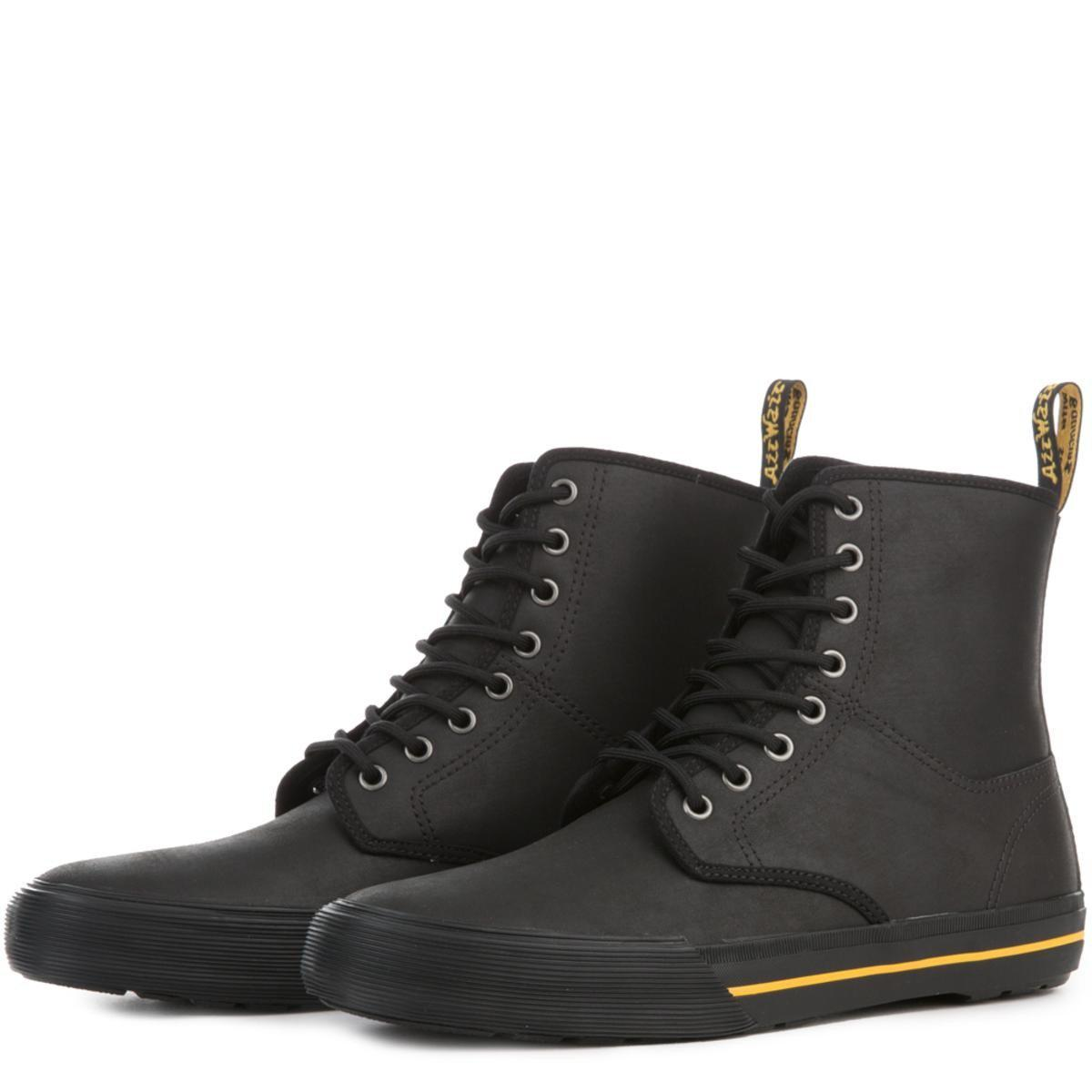 Dr. Martens Winsted Black Leather Boots