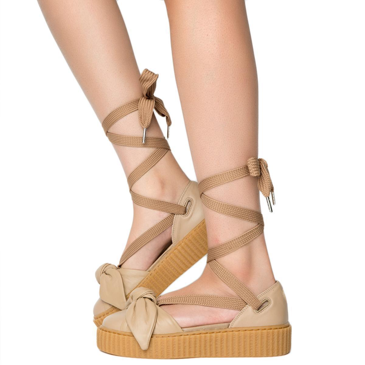 promo code 27913 07bcc Lyst - PUMA Bow Creeper Sandal in Natural