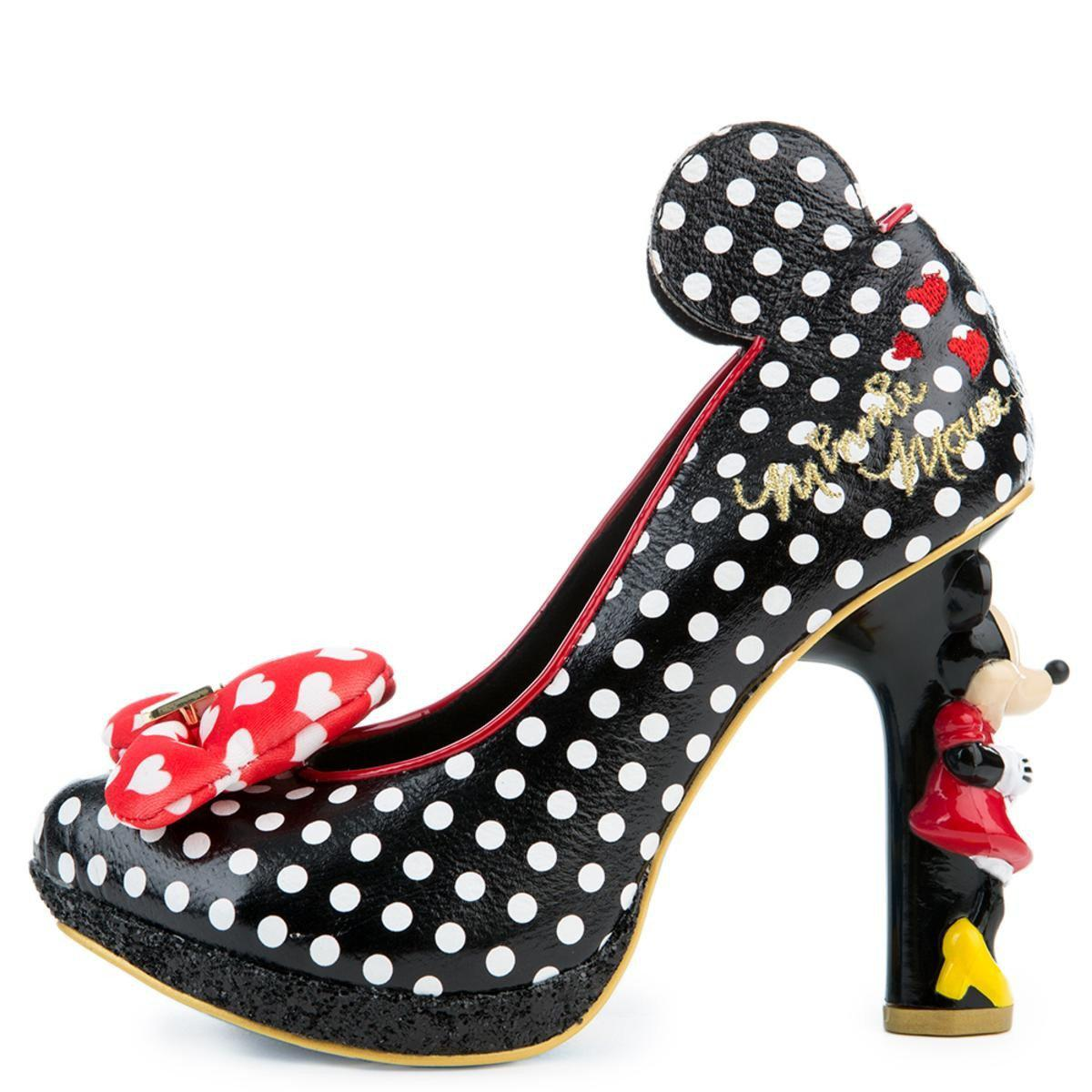 49ceb026e24 Women's Mickey Mouse & Friends Collection Oh My! Black High Heel