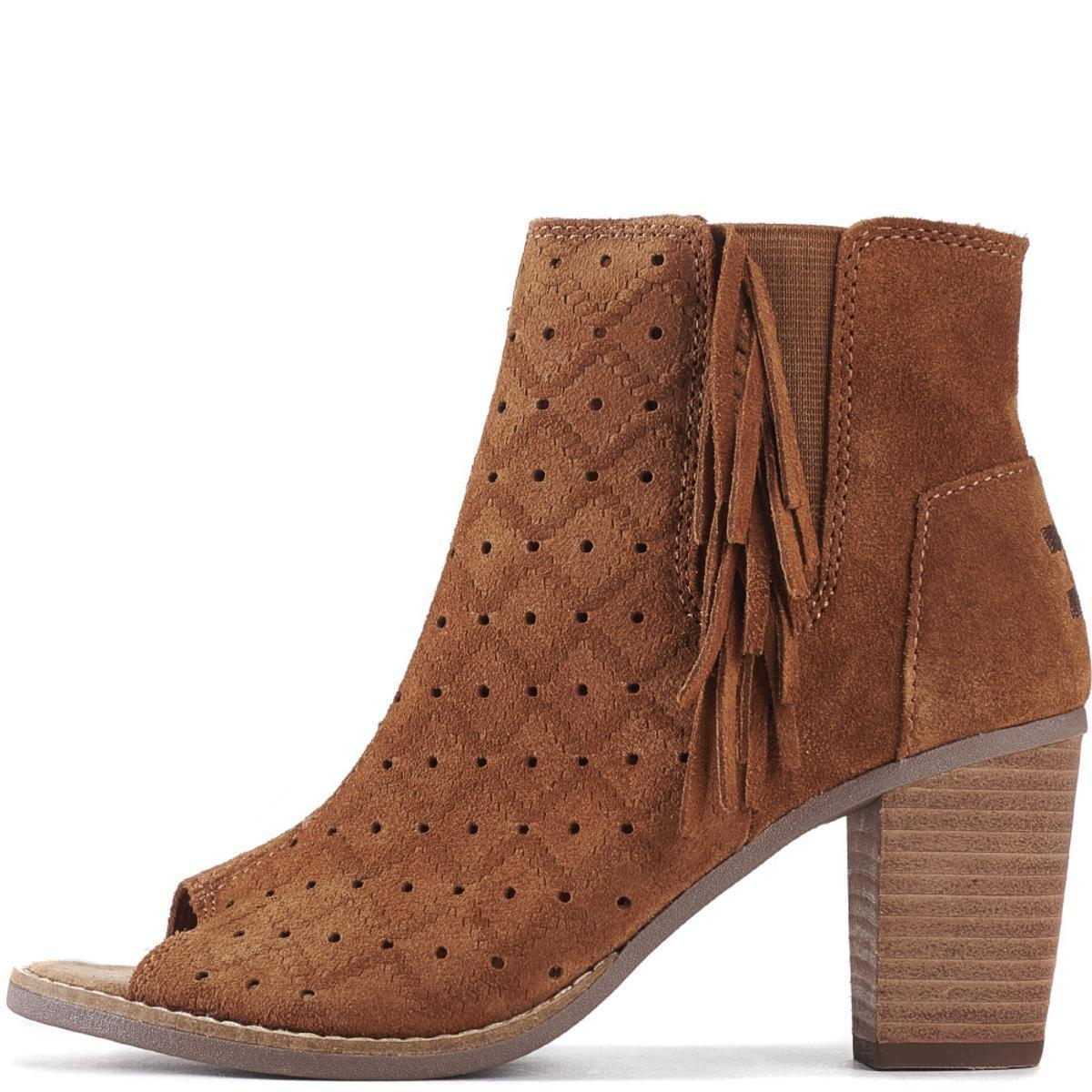 TOMS Suede Majorca Perforated Fringe