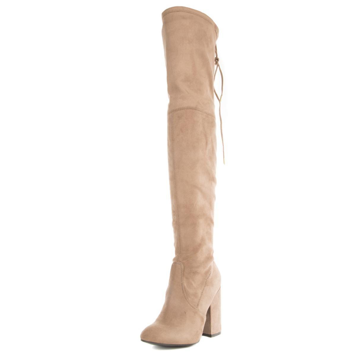 363c76d060e4 Steve Madden - Brown Norri Taupe Thigh High Heeled Boots - Lyst. View  fullscreen