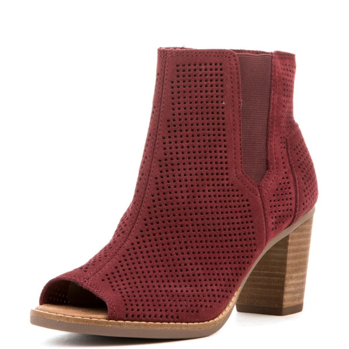 TOMS Majorca Oxblood Perforated Suede