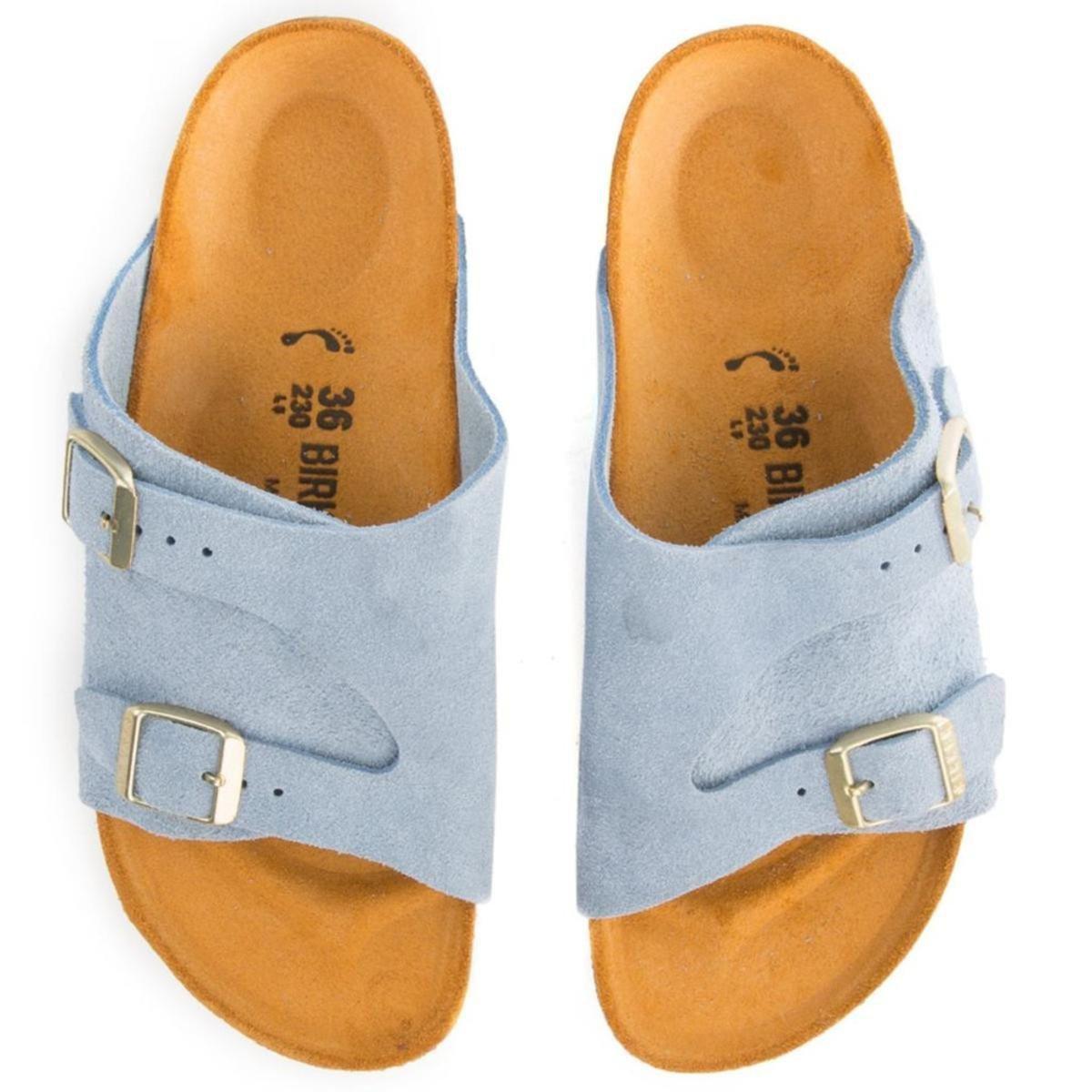 Birkenstock Zurich Blue Suede Sandals