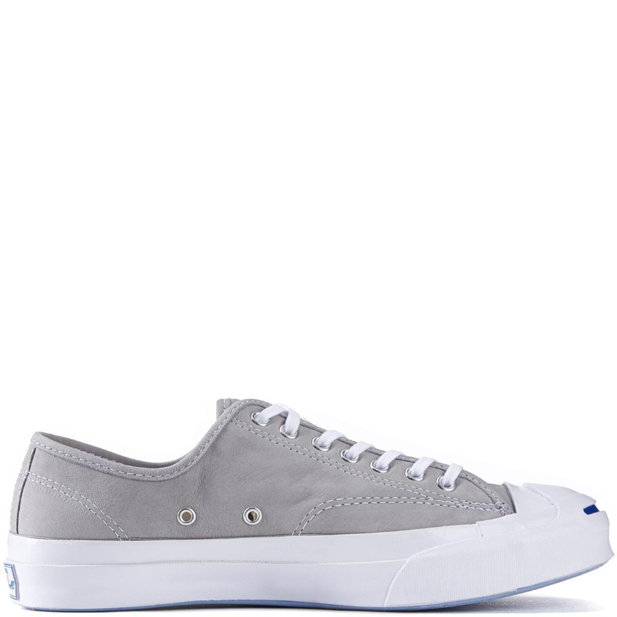 7af38a09b7e6 Converse - Jack Purcell Signature Nubuck Dolphin White Sneakers for Men -  Lyst. View fullscreen