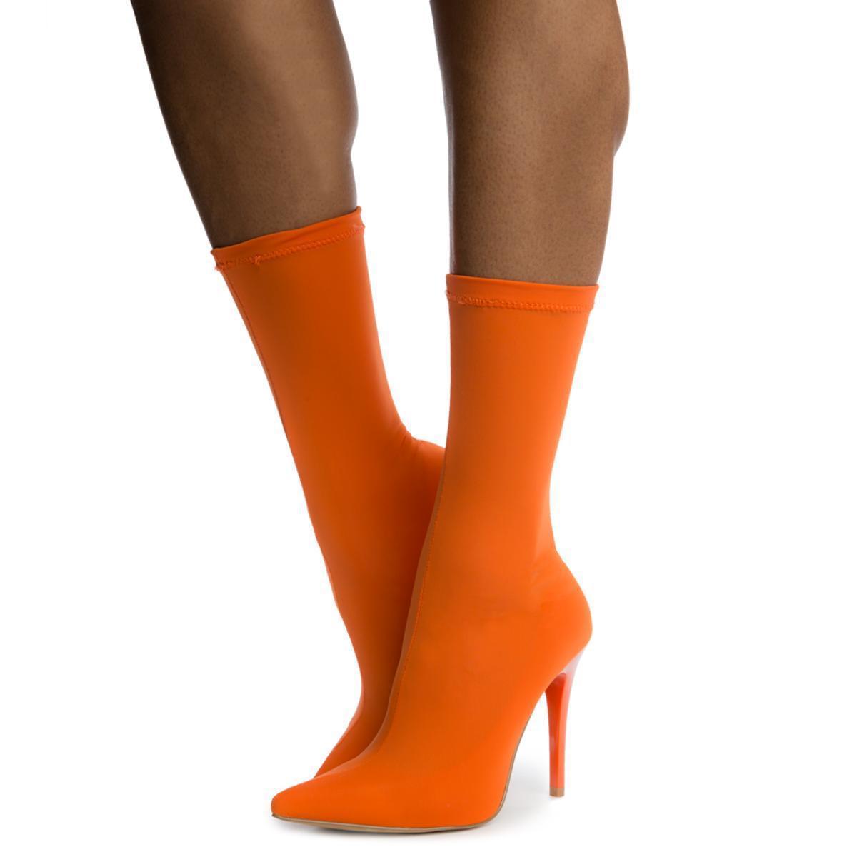 a608a568f Shoe Republic Carreta Booties in Orange - Lyst