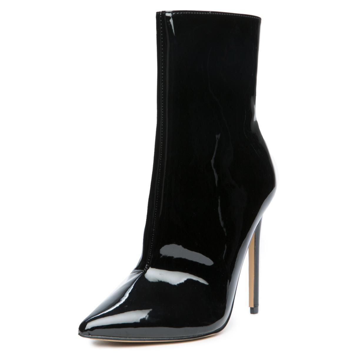 733f64580ae0 Steve Madden - Wagner Black Patent Heeled Booties - Lyst. View fullscreen