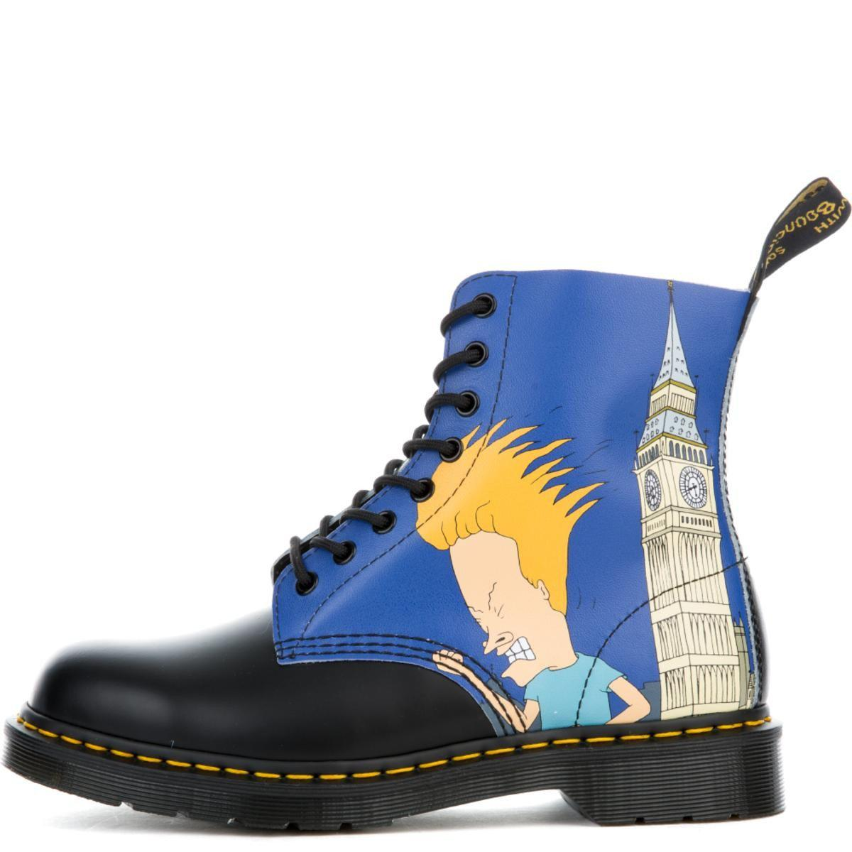 classic style cozy fresh really cheap Unisex Beavis & Butt-head Pascal Black + Blue Boots
