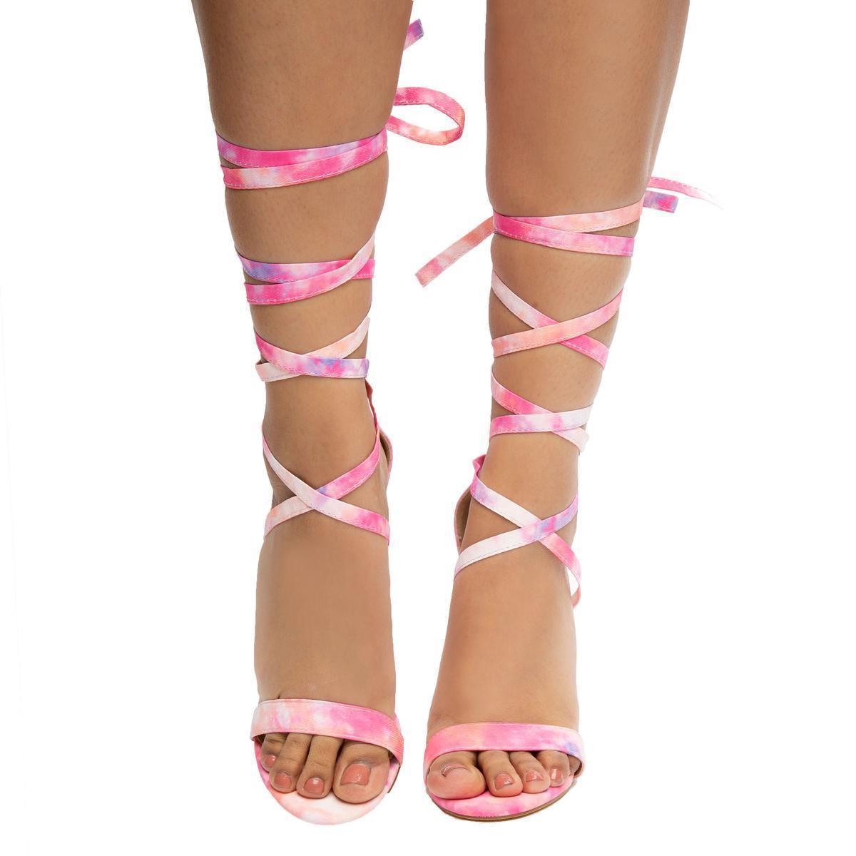 High Heels in Pink Tie Dye (Pink