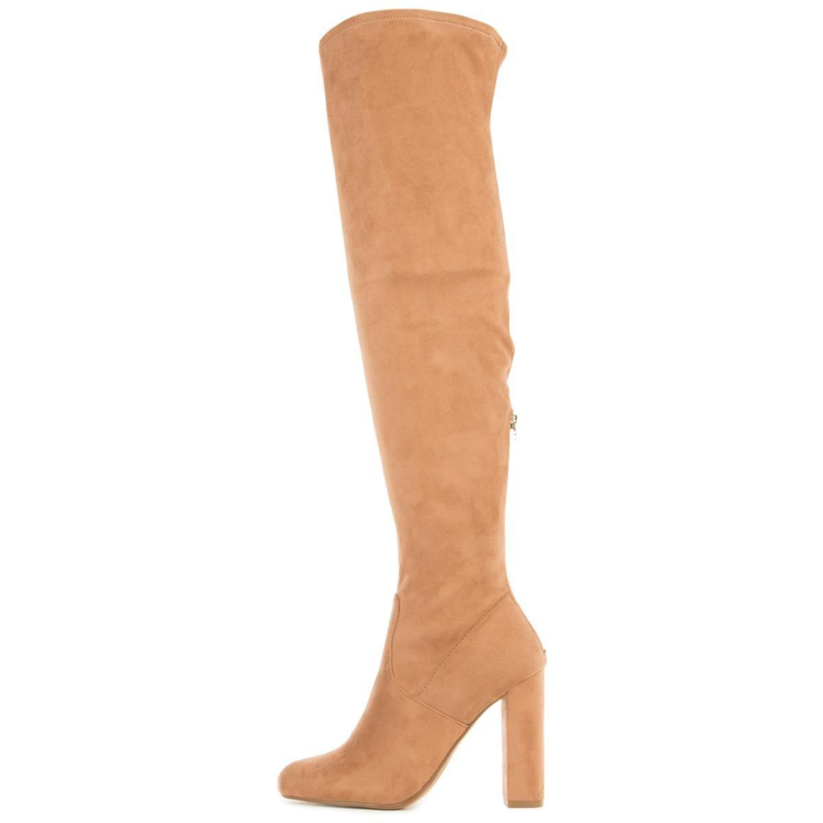 buy cheap order the sale of shoes Emotions Camel Thigh High Heeled Boots