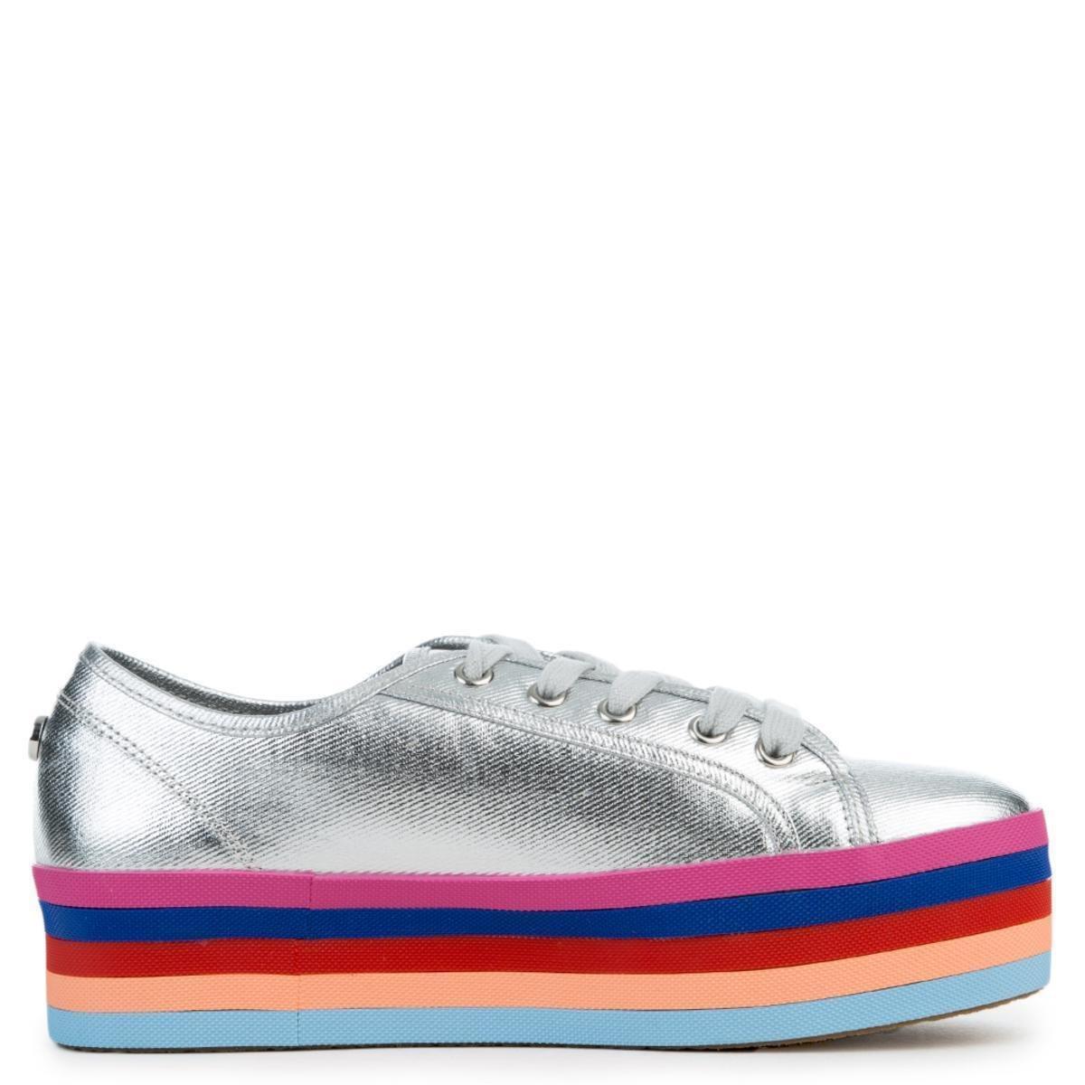 449607da269 Steve Madden - Metallic Rainbow 751 Silver Platform Sneaker - Lyst. View  fullscreen