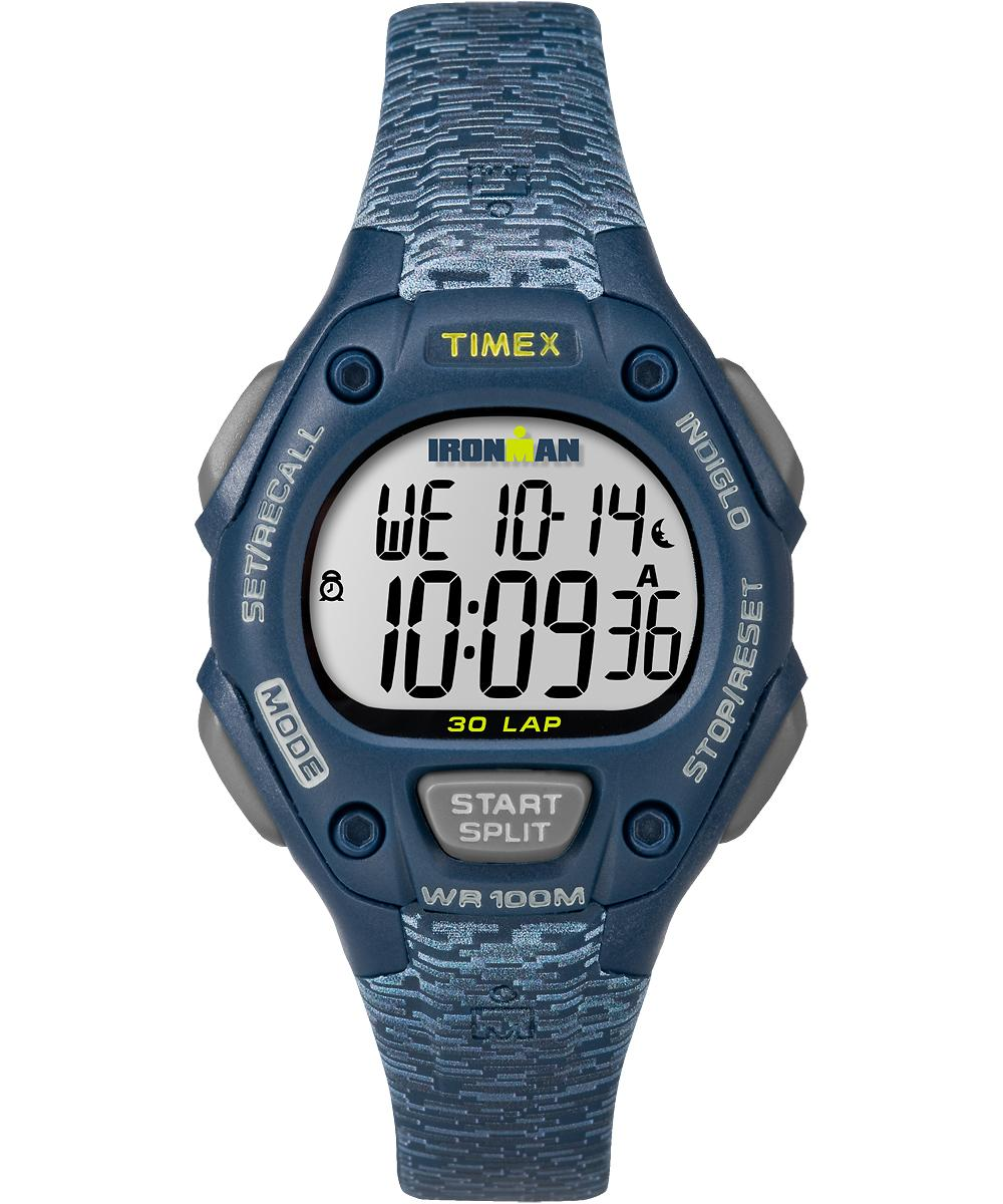 Women's Watch Ironman Classic 30 Mid-size Resin Strap Blue/digital