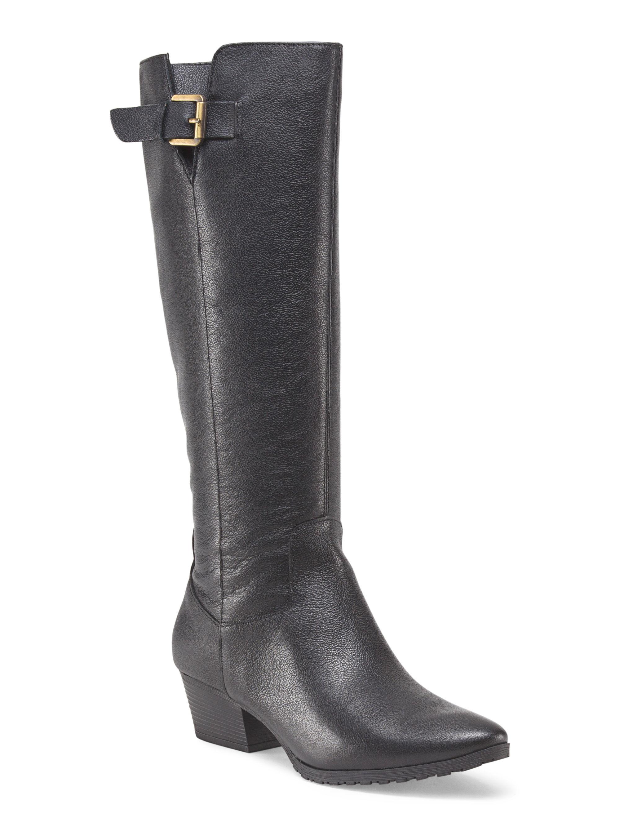 tj maxx leather western boot in black lyst