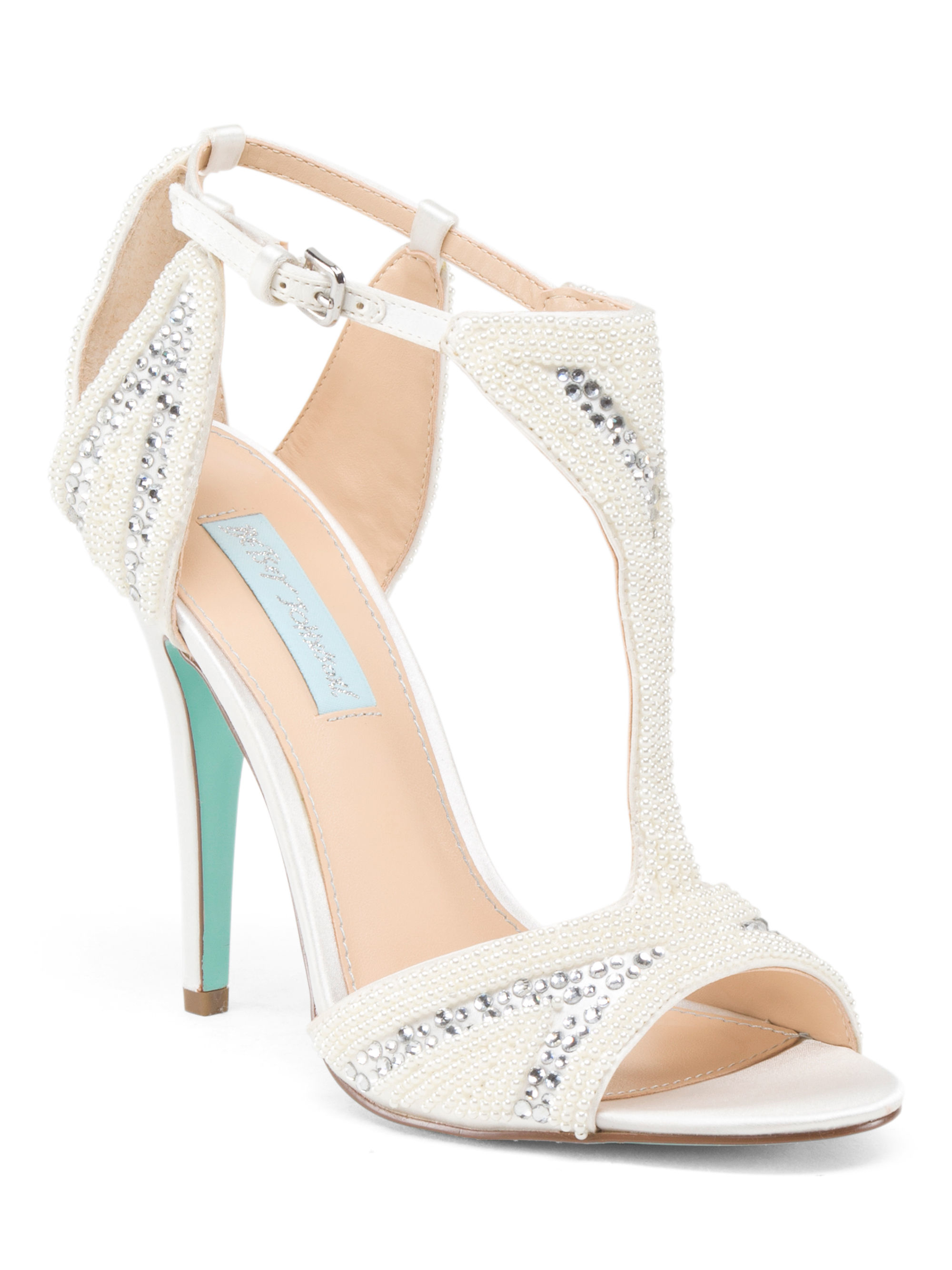 tj maxx ido dress ankle heel in white lyst