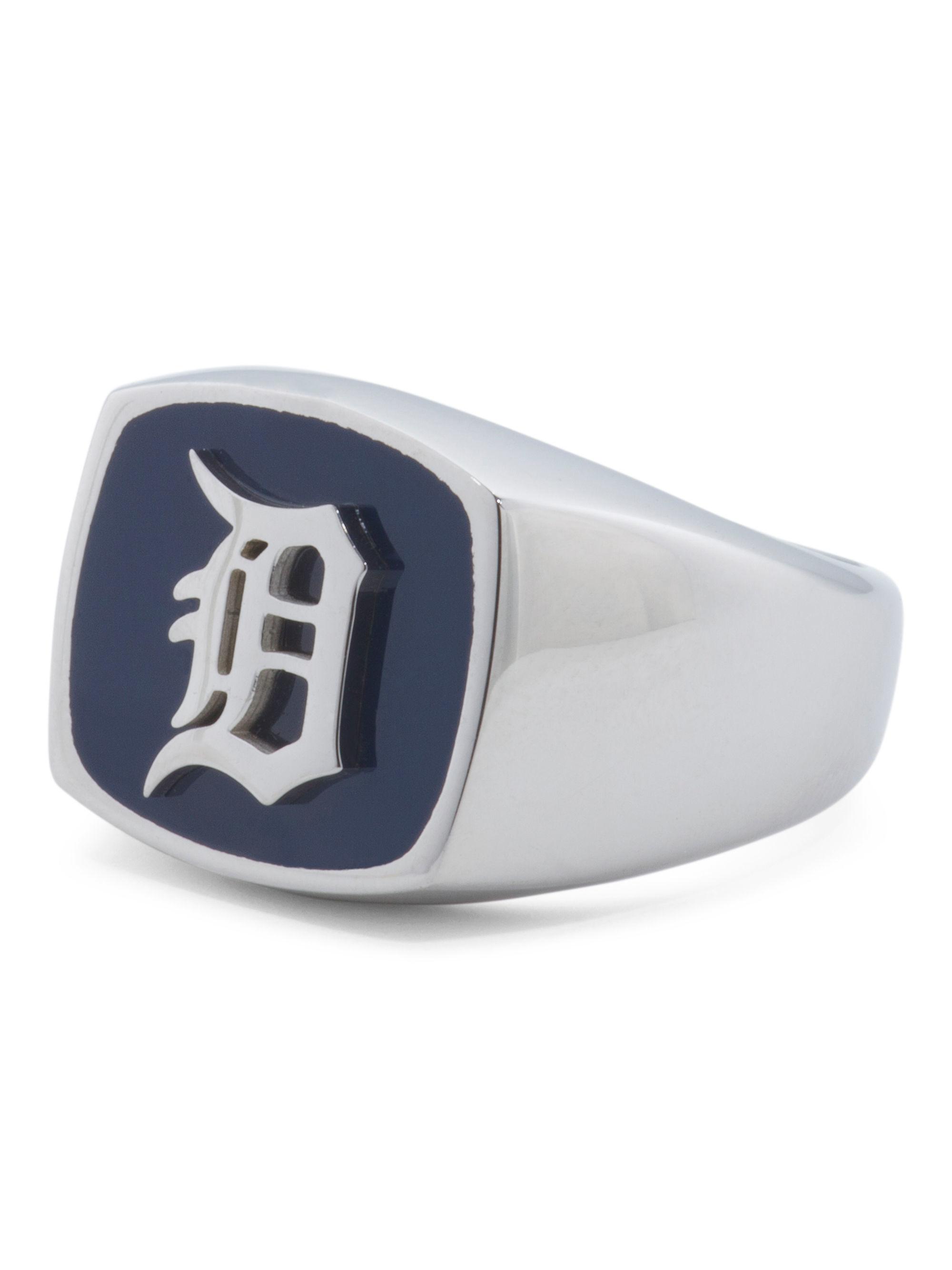 Tj maxx detroit tigers ring in blue for men lyst for Tj maxx jewelry box