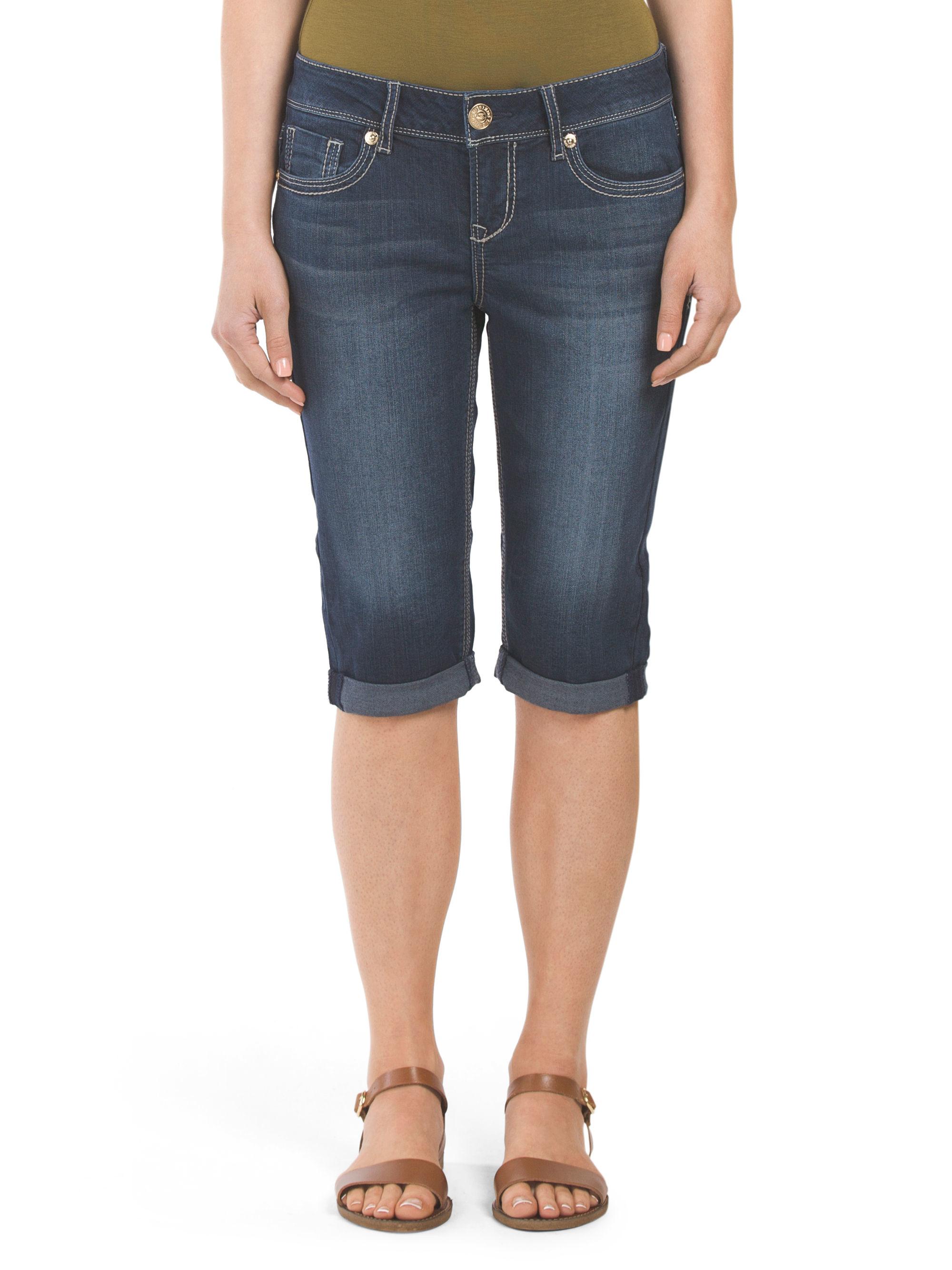 Tj Maxx Self Patch Crop Jean In Blue Lyst