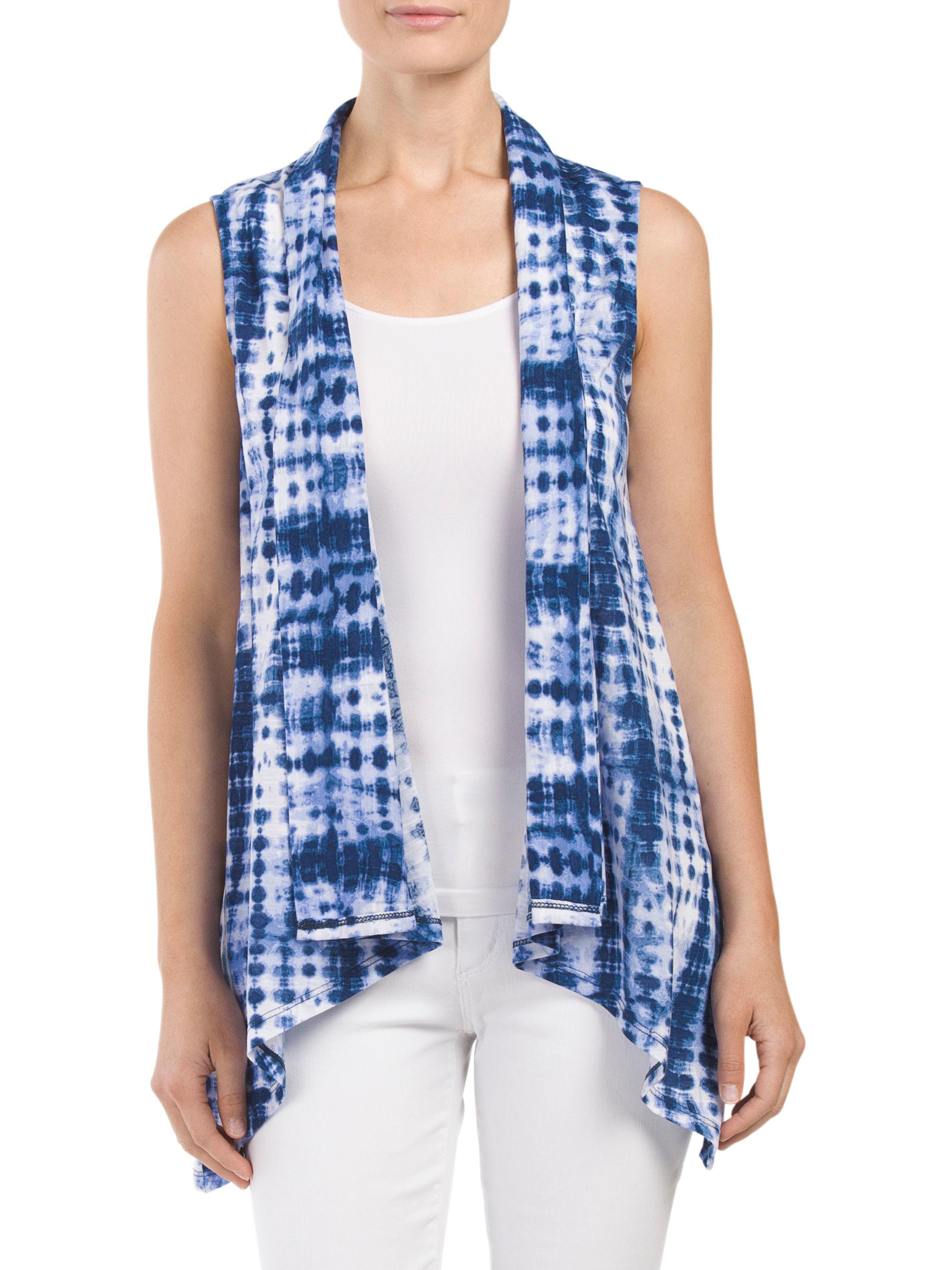 Tj maxx tie dye vest in blue lyst for Tj maxx t shirts