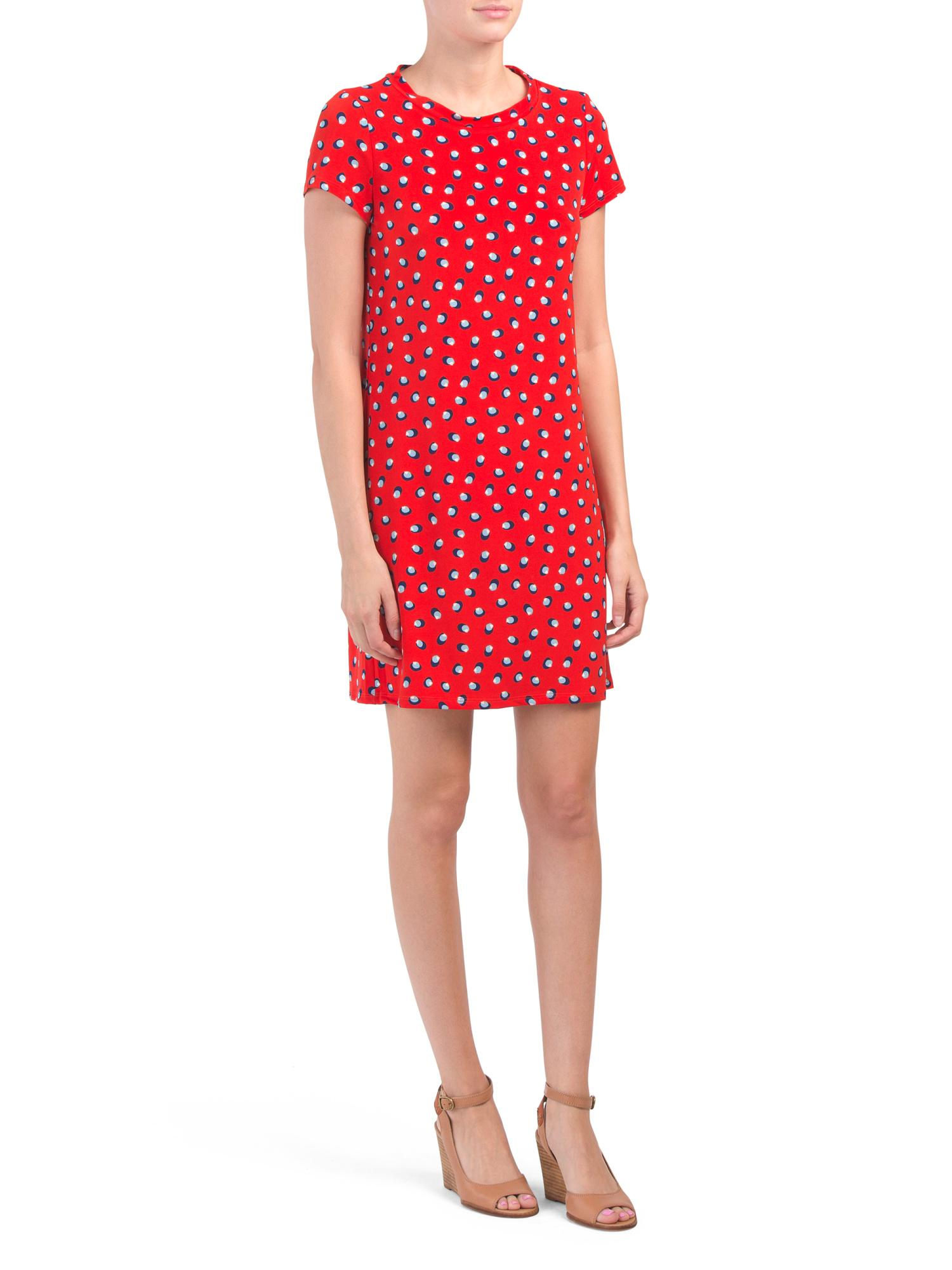 91e25c3d6821 Tj Maxx Made In Usa A Line Printed Dress in Red - Lyst