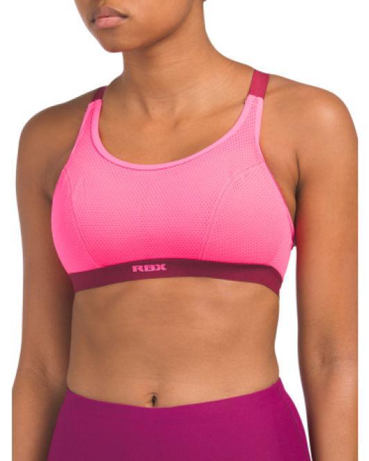 092ce5d699ba9 Lyst - Tj Maxx 2pk X Back Sport Bras in Pink