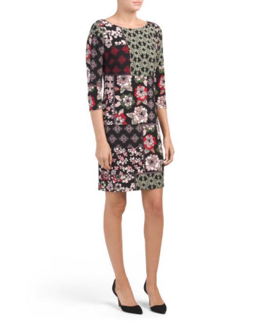 a359713274a Lyst - Tj Maxx Mixed Print Jersey Dress in Black