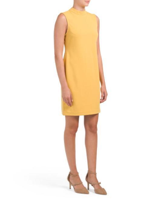 ae68f248f3d Lyst - Tj Maxx Petite Sleeveless Mock Sheath Dress in Yellow