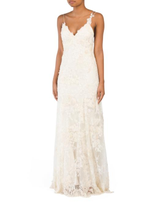 b13d2ad4b54b3 Tj Maxx - Multicolor Embroidered Long Gown - Lyst