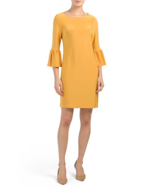 8be438c324ef Lyst - Tj Maxx Elle Sheath Dress in Yellow