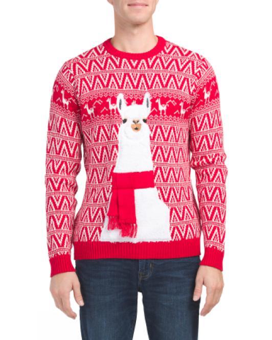 Lyst Tj Maxx Festive Llama Christmas Sweater For Men