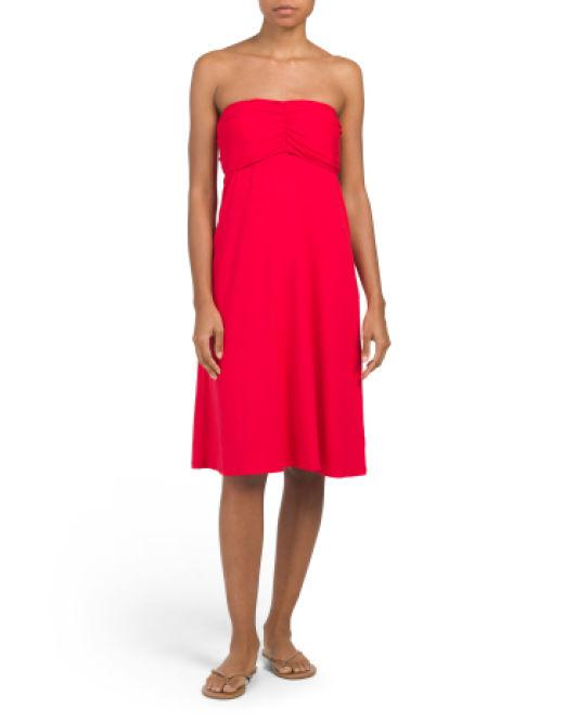 49c8d4423e13 Lyst - Tj Maxx Lattice Swim Cover-up Dress in Red