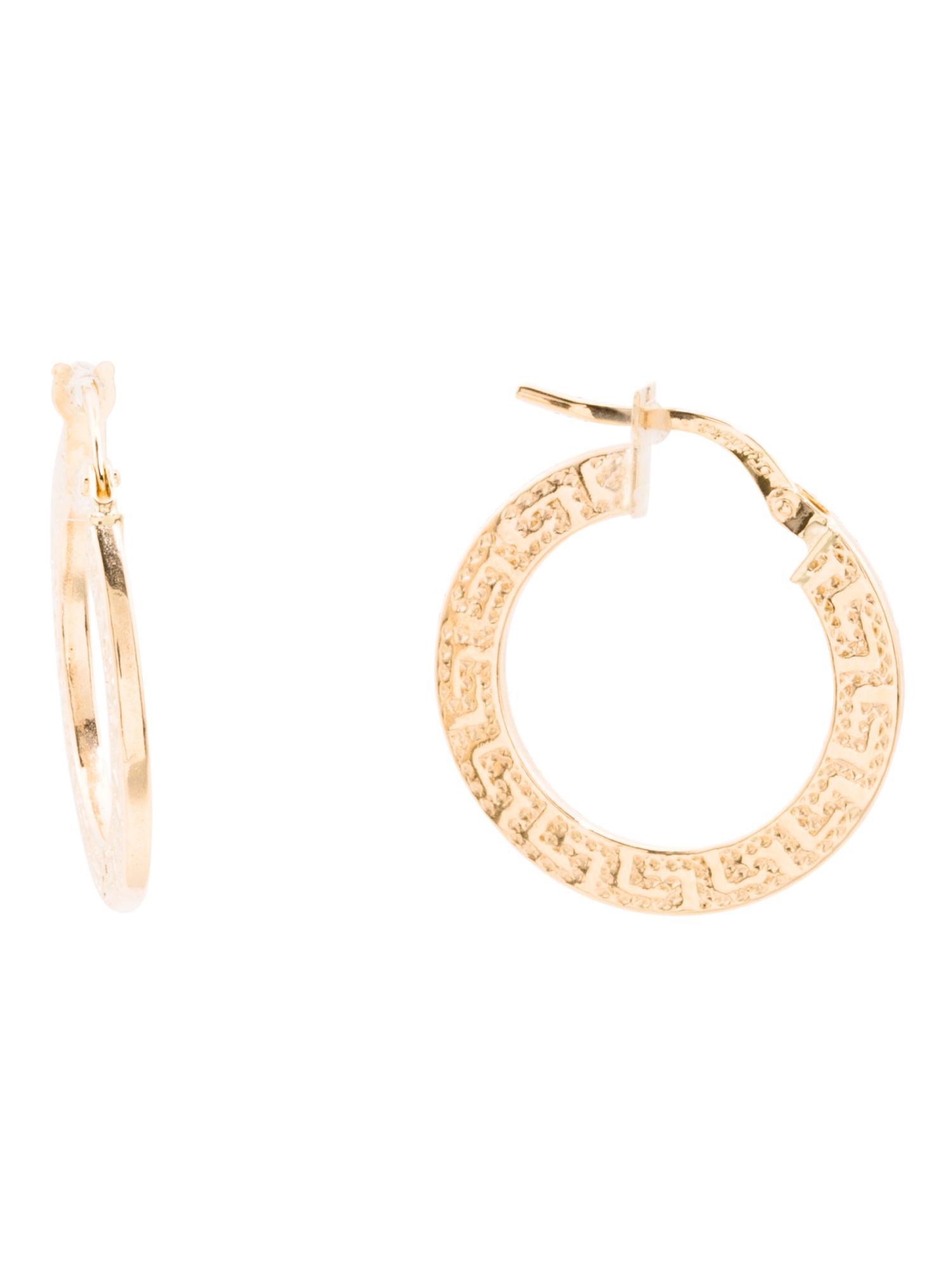 14k Tri-Color Gold Dangle Heart Post Earrings, 20mm X 15mm