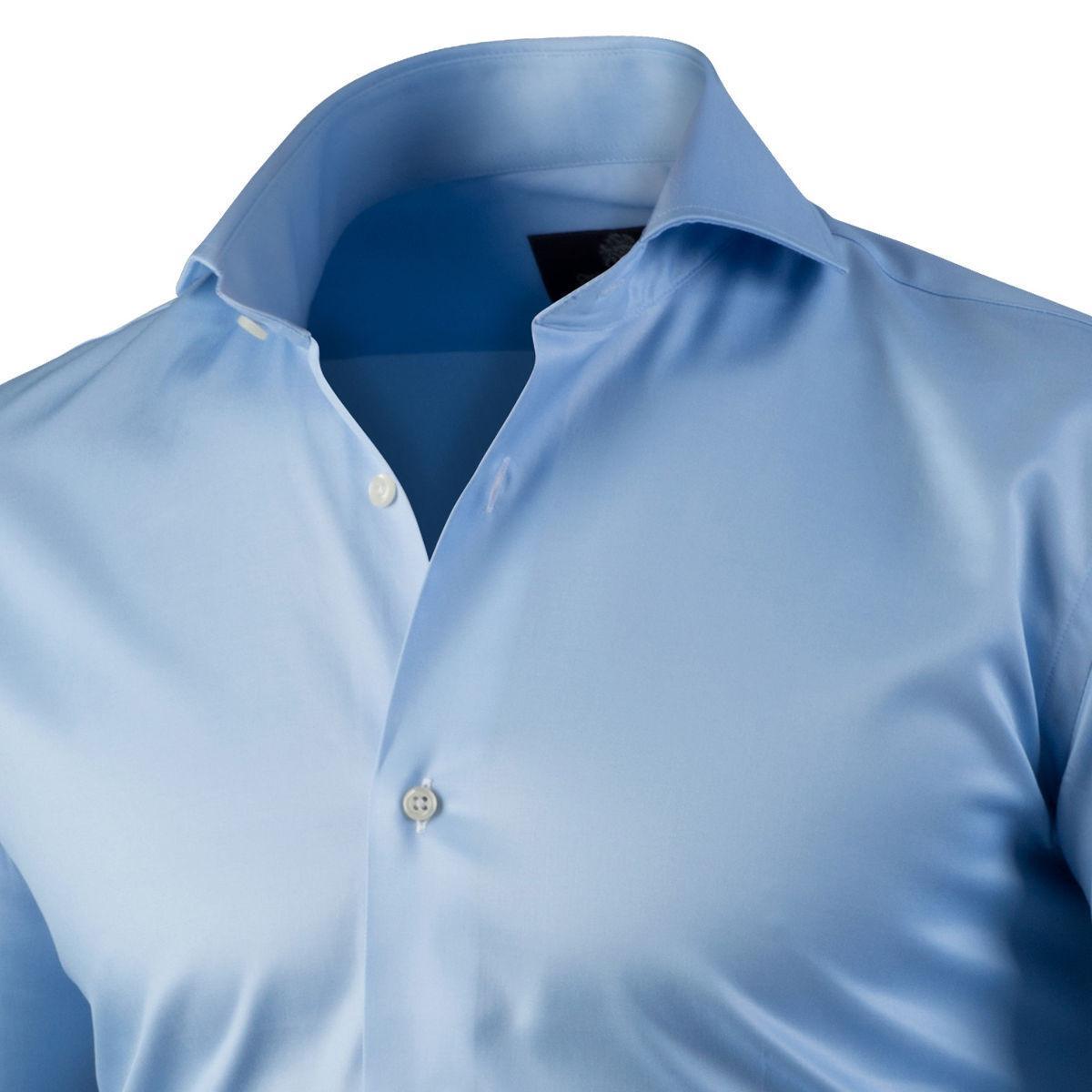 Circle Of Gentlemen Heren Overhemd Asher Licht Cutaway Stretch Slim Fit in het Blauw voor heren