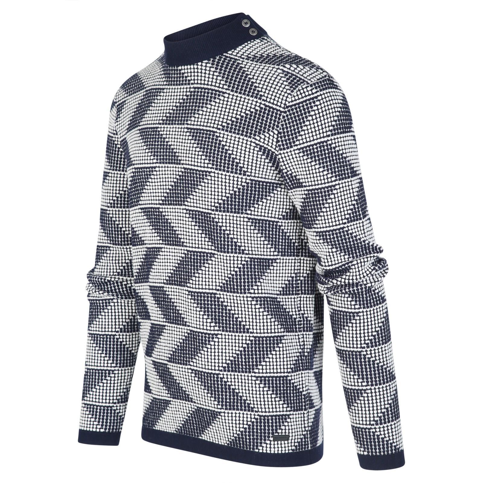 BLUE INDUSTRY Pullover Zigzag Kbiw19-m25 in het Blauw voor heren