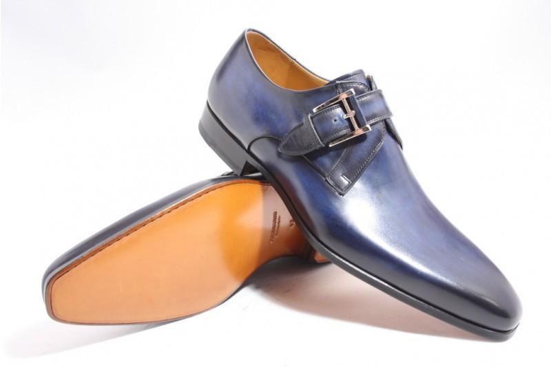 Magnanni 14423 Gespschoenen in het Blauw voor heren