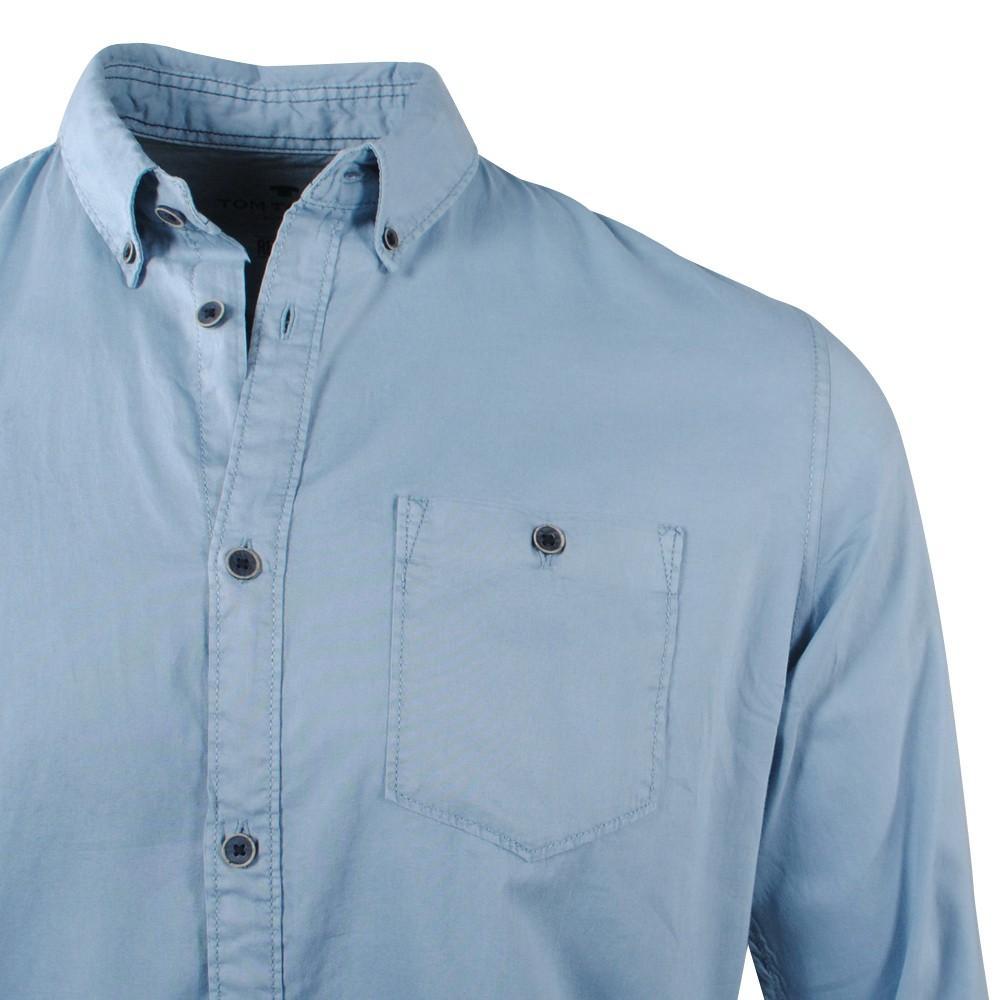 Tom Tailor Heren Overhemd Borstzak Yonder Blue voor heren